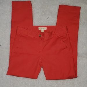 Michael Kors  skinny trouser in salmon sz 4